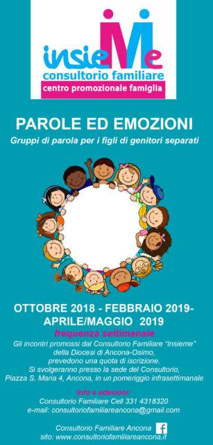 PAROLE ED EMOZIONI. Gruppi di parola per i figli di genitori separati