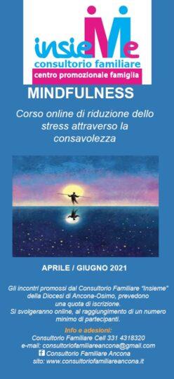 MINDFULNESS corso online di riduzione dello stress attraverso la consapevolezza aprile- giugno 2021